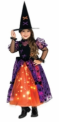 Pretty Witch Girls  Witch Costume - with Lights