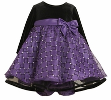 Purple And Black Sparkle Hipster Dress