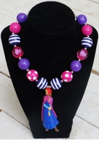 Purple Frozen Inspired Anna Necklace