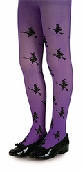 Purple Tights - Glitter Witch Tights
