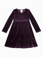 Purple Velour Dress - Special Occasion Dress