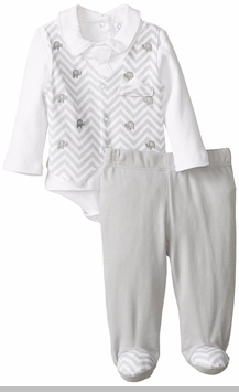 Quiltex Baby-Boys Newborn Suited Up Pant Set
