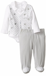 Quiltex Baby-Boys Newborn Suited Up Pant Set  CLEARANCE