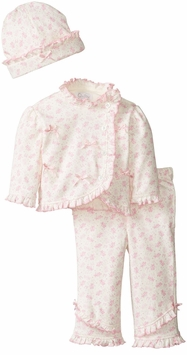Quiltex Baby Girls take Me Home Set Pink Bow Toile