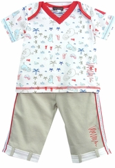 Rabbit Moon Designer Pant Set by Le Top 12-18 month LAST ONE  FINAL SALE
