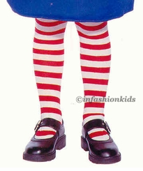 Raggedy Ann Tights - Childrens Striped Tights
