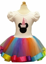Rainbow Minnie Mouse Inspired Costume Tutu Dress - Sold out