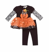 Rare Edition Girl's Orange Pumpkin Tutu Set : Girl's Halloween Outfits