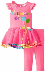 Rare Editions Baby Girls Fuchsia Birthday Girl Tutu Set