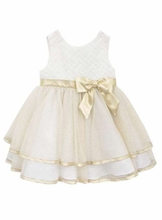 Rare Editions Baby-Girls Ivory Gold Party Dress