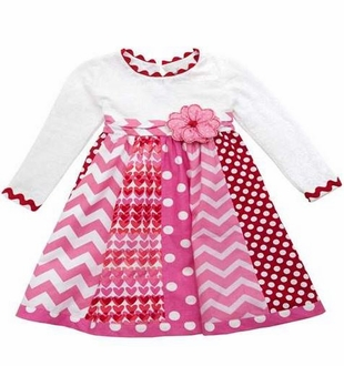 Rare Editions Baby-Girls Mixed Print Valentine's Day Dress - SOLD OUT