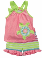 Rare Editions Baby-Girls Turtle Short Set - sold out