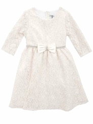 Rare Editions Little Girls Ivory Lace Dress