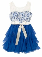 Rare Editions Big Girls Royal Lace Party Dress