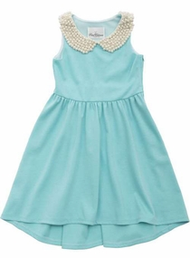 Rare Editions Big Girls Special Occasion Aqua Ponte Dress