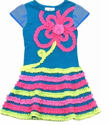 Rare Editions Little Girls Dress - Summer Dress Turquoise