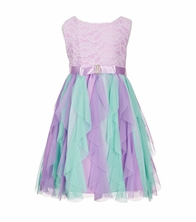 Rare Editions Girls Lace-Bodice Dress