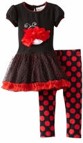 Rare Editions - Girls Ladybug Tutu Dot Pant Set