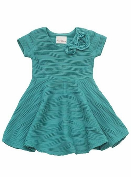 Rare Editions Green Wavey Knit Dress SIZE 7 LAST ONE