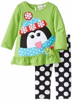 Rare Editions Infant - Baby Girls Winter Holiday Penguin Set