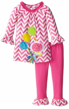 Rare Editions Little Girls Birthday Balloons Outfit 2T - 6X