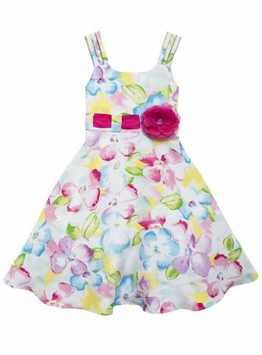 Rare Editions Little Girls Floral Easter Dress
