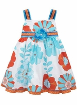 Rare Editions Little Girls Multi Color Floral Summer Dress