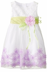 Rare Editions Little Girls Special Occassion Dress Lavender Floral Southache Dress