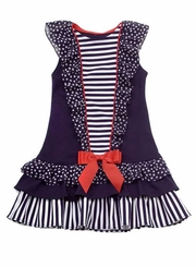 Size 6   Nautical Dress CLEARANCE FINAL SALE LAST ONE
