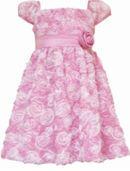 Rare Editions Pink and White Soutache Dress CLEARANCE