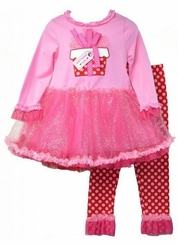 Girl's Birthday Present Tutu Legging Set