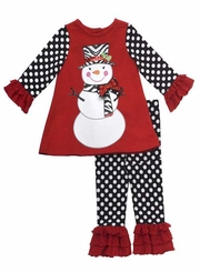 Rare Editions Snowman Christmas Set - 9 months to Girls 8