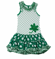 Rare Editions St. Patrick's Day Tutu-Skirted Dress - SOLD OUT