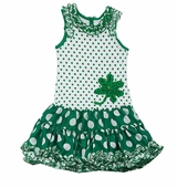 Rare Editions St. Patrick's Day Tutu-Skirted Dress