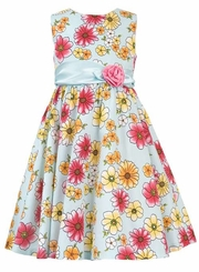 Rare Editions Floral Print Dress CLEARANCE 4-6X