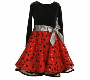 Red and Black Dot Hipster Dress  SOLD OUT