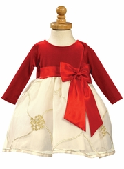 Red and Ivory Holiday Dress