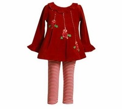 Red Christmas Mistletoe Pant Set   CLEARANCE 12 MONTHS