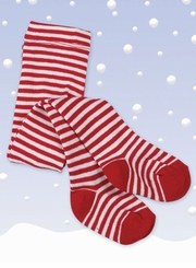 Red/White Striped Tights - Infant or Toddler Size