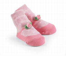 Rosette Pink Mary Jane Socks