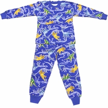 Royal Dinos - Cotton Pajamas 2T - 7