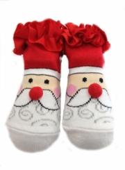 Ruffled Santa Claus Infant Socks (fits 0-12 month)