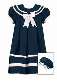 Girls Sailor Dress with Hat -  Navy Sailor Dress E164003R - SOLD OUT