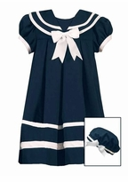 Girls Sailor Dress with Hat -  Navy Sailor Dress