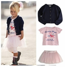 Salon Couture Little Girls Cardigan, Pettiskirt and Tee Set