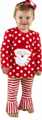 Mud Pie Santa Tunic - Baby Toddler Girls Christmas Clothes