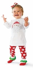 Santa Tunic And Sock Leggings  SIZE 2-3T in stock
