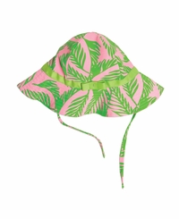 Shade Critter Baby Girls Floppy Sunhat Pink Lime - UPF 50+