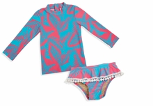 Shade Critter Palm Reader Coral Blue  2 pc Swimsuit Set - UPF 50+ - sold out