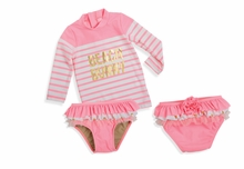 Shade Critter Pink Beach Bunny 2 pc Swimsuit Set - UPF 50+